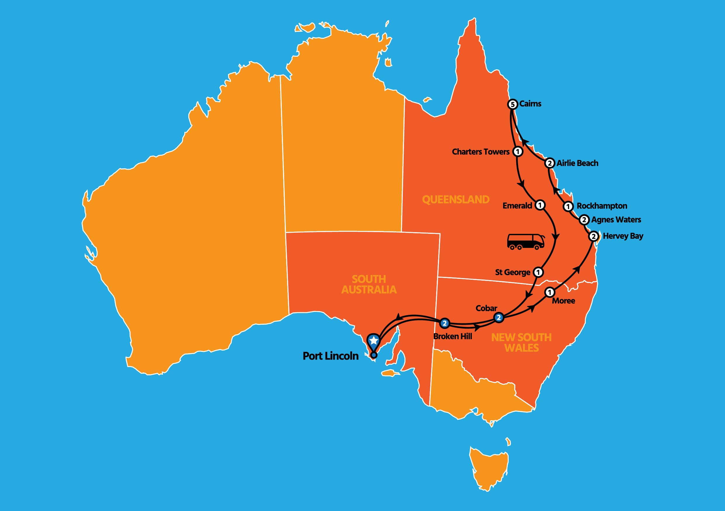 21 DAY TROPICAL QUEENSLAND TOUR